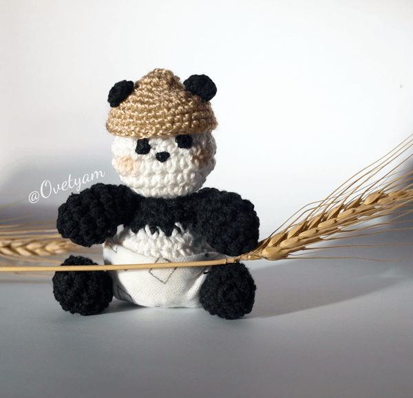 Aramela*Artesanías: Osito panda amigurumi (con patrón) | 578x600